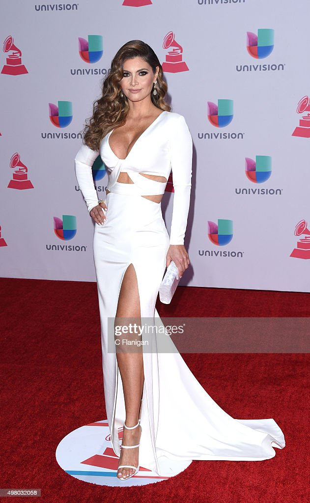 TV host/model Chiquinquira Delgado attends the 16th Annual Latin GRAMMY Awards at the MGM Grand Garden Arena on November 19, 2015 in Las Vegas, Nevada.