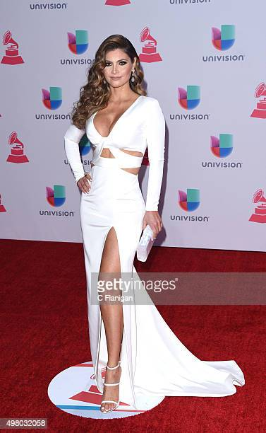 TV host/model Chiquinquira Delgado attends the 16th Annual Latin GRAMMY Awards at the MGM Grand Garden Arena on November 19 2015 in Las Vegas Nevada