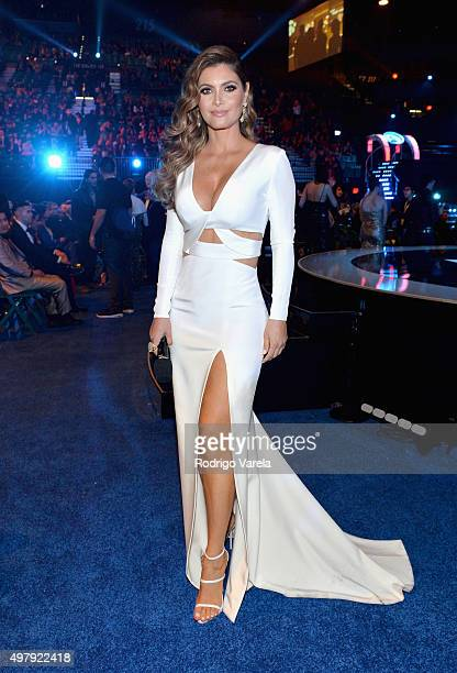 TV host/model Chiquinquira Delgado attends the 16th Latin GRAMMY Awards at the MGM Grand Garden Arena on November 19 2015 in Las Vegas Nevada