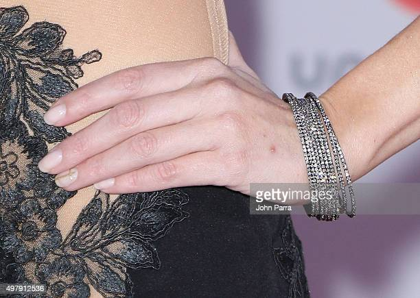 TV host/model Daniela di Giacomo fashion detail attends the 16th Latin GRAMMY Awards at the MGM Grand Garden Arena on November 19 2015 in Las Vegas...