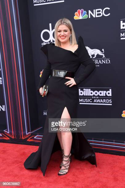 Host/performer Kelly Clarkson attends the 2018 Billboard Music Awards 2018 at the MGM Grand Resort International on May 20 2018 in Las Vegas Nevada