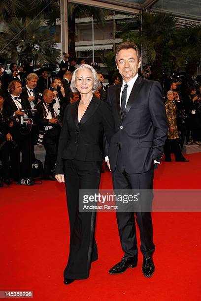 TV host/presenter Michel Denisot and wife Martine Patier attends the Closing Ceremony and Therese Desqueyroux premiere during the 65th Annual Cannes...