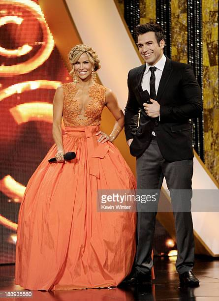 Hosts Actress Aylin Mujica and actor Rafael Amaya speak onstage at the Billboard Mexican Music Awards at the Dolby Theatre on October 9, 2013 in Los...