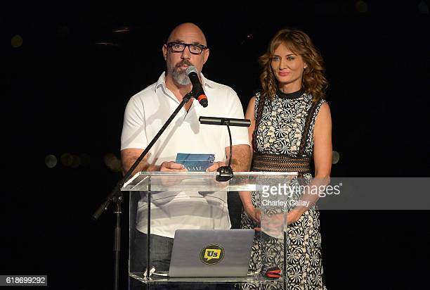 Hosts Adam and Trina Venit speak onstage at the OF BY FOR Awards presented by RepresentUs on October 27 2016 in Beverly Hills California