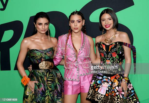 Hosts Aislinn Derbez Danna Paola and Ángela Aguilar attend the 2020 Spotify Awards at the Auditorio Nacional on March 05 2020 in Mexico City Mexico