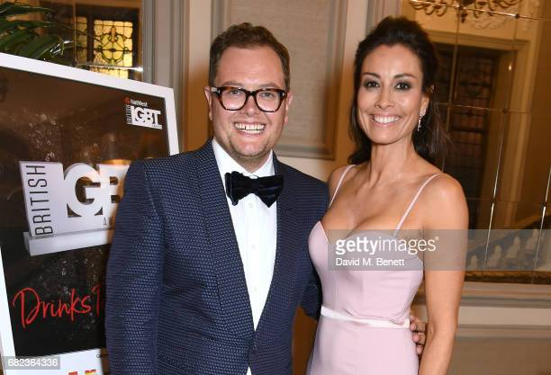 Hosts Alan Carr and Melanie Sykes attend the British LGBT Awards at The Grand Connaught Rooms on May 12 2017 in London England