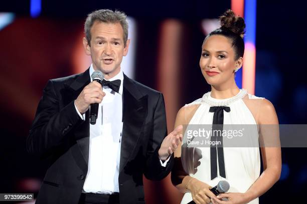 Hosts Alexander Armstrong and Myleene Klass speak on stage during the 2018 Classic BRIT Awards held at Royal Albert Hall on June 13 2018 in London...