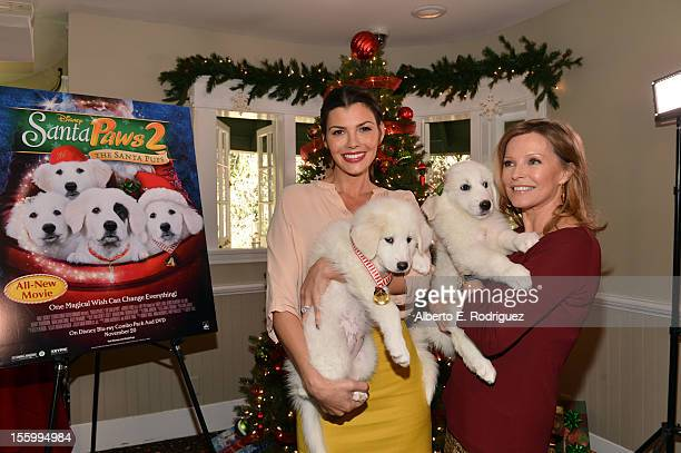 Hosts Ali Landry and Cheryl Ladd attend the 'Santa Paws 2 The Santa Pups' holiday party hosted by Disney Cheryl Ladd and Ali Landry at The Victorian...