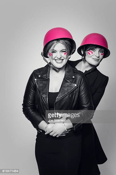 TV hosts and mother daughter Kelly Osbourne and Sharon Osbourne are photographed for Cancer Research UK on May 6 2014 in Los Angeles California