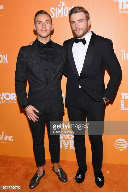 Hosts and Olympic Athelets Adam Rippon and Gus Kenworthy attends The Trevor Project TrevorLIVE NYC at Cipriani Wall Street on June 11 2018 in New...