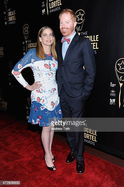 Hosts Anna Chlumsky and Jesse Tyler Ferguson attends the 30th Annual Lucille Lortel Awards at NYU Skirball Center on May 10, 2015 in New York City.
