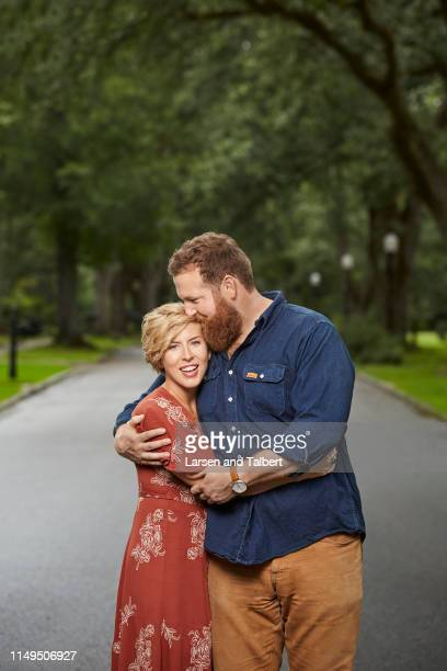 Hosts Ben Napier and Erin Napier are photographed for Guideposts Magazine on August 10, 2018 in Laurel, Mississippi.