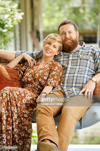 Hosts Ben Napier and Erin Napier are photographed for Guideposts Magazine on August 10, 2018 in Laurel, Mississippi. COVER IMAGE.