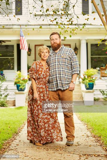 Hosts Ben Napier and Erin Napier are photographed for Guideposts Magazine on August 10, 2018 in Laurel, Mississippi. PUBLISHED IMAGE.