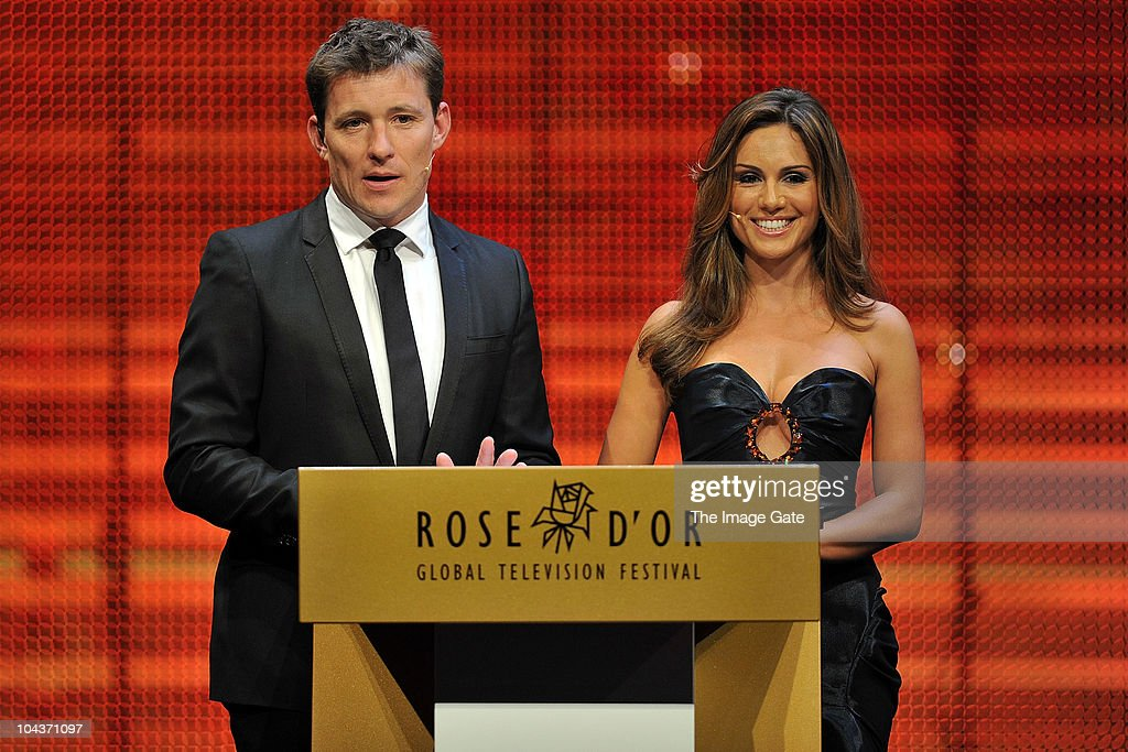 Hosts Ben Shephard and Nazan Eckes talk during the 50th Rose d'Or Television Festival Award Ceremony on September 22, 2010 in Lucerne, Switzerland.