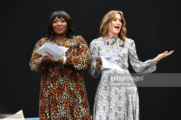 Hosts Bevy Smith and Elizabeth Wagmeister speak onstage during Starz FYC 2019 — Where Creativity Culture and Conversations Collide on June 02 2019 at...