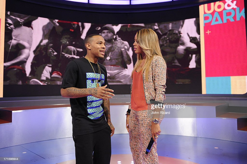 Hosts Bow Wow and Angela Simmons at BET's '106 & Park' at BET Studios on June 26, 2013 in New York City.