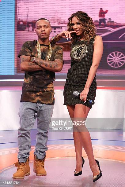 Hosts Bow Wow and Erica Mena appear on BET's 106 Park at BET Studio on July 7 2014 in New York City