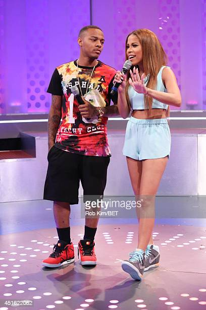 Hosts Bow Wow and Keshia Chante at BET's 106 Park at BET studios on July 1 2014 in New York City