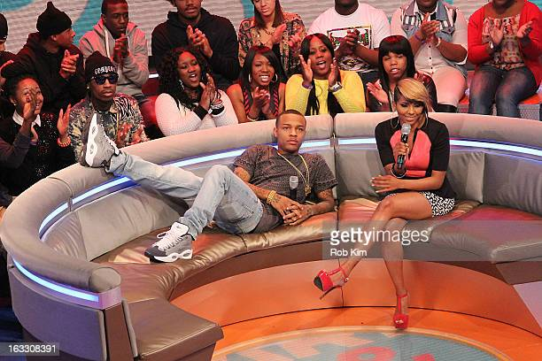 Hosts Bow Wow and Miss Mykie at BET's '106 Park' at BET Studios on March 7 2013 in New York City
