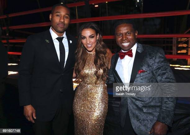 Hosts Cabral Cabbie Richards Laura Ward and Michael 'Pinball' Clemons CoFounder of the Pinball Clemons Foundation attend the Victory Charity Ball at...