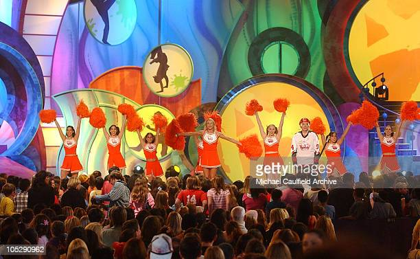 Hosts Cameron Diaz and Mike Myers during Nickelodeon's 17th Annual Kids' Choice Awards Show at Pauley Pavillion in Westwood California United States