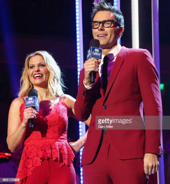 Hosts Candace Cameron Bure and Bobby Bones speak onstage during the 2018 iHeartCountry Festival By ATT at The Frank Erwin Center on May 5 2018 in...