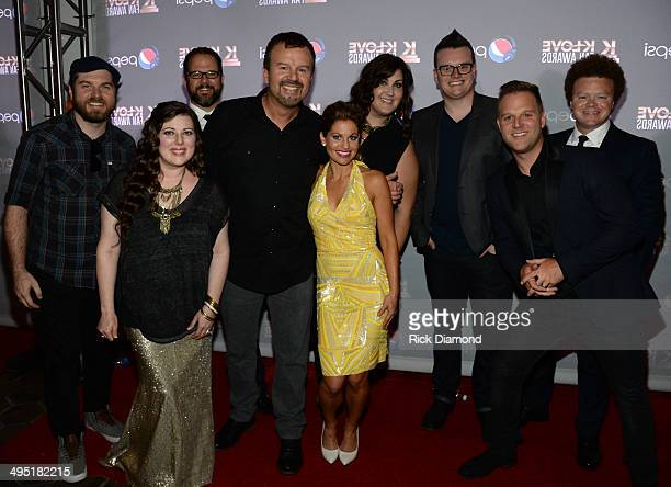 Hosts Candace CameronBure and Matthew West and Casting Crowns attend the 2nd Annual KLOVE Fan Awards at the Grand Ole Opry House on June 1 2014 in...