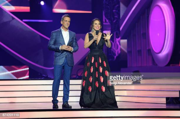 Hosts Carlos Ponce and Kate del Castillo onstage at the Billboard Latin Music Awards at Watsco Center on April 27 2017 in Coral Gables Florida