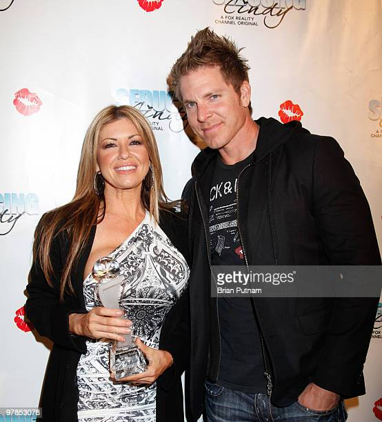 Hosts Carmen Palumbo and Mark Long arrive for 'Seducing Cindy' Finale Party at Guy's North on March 18 2010 in Studio City California