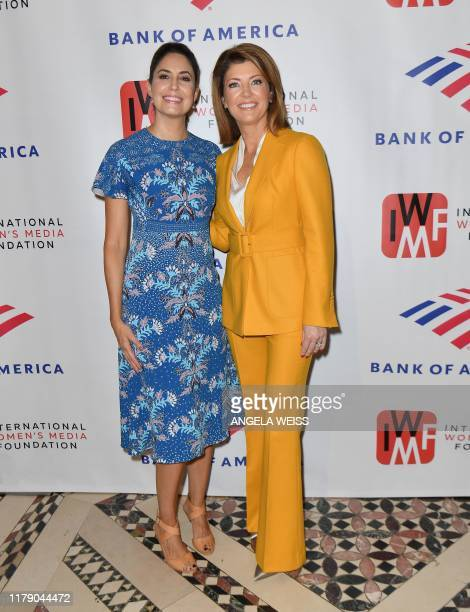 Hosts Cecilia Vega and Norah O'Donnell attend The International Women's Media Foundation's 2019 Courage in Journalism Awards at Cipriani 42nd Street...
