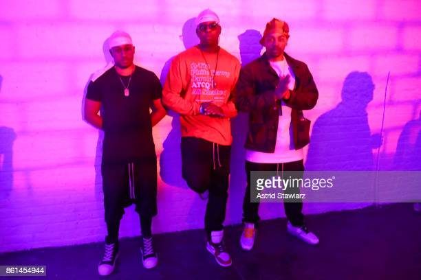 Hosts chefs and musicians Ghetto Gastro attend Street Eats hosted by Ghetto Gastro at Industria on October 14 2017 in New York City