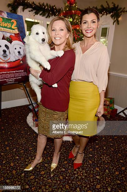 Hosts Cheryl Ladd and Ali Landry attend the 'Santa Paws 2 The Santa Pups' holiday party hosted by Disney Cheryl Ladd and Ali Landry at The Victorian...
