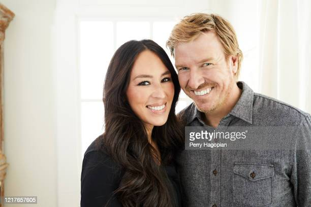Hosts Chip Gaines and Joanna Gaines are photographed for People Magazine on October 2, 2018 in Waco, Texas.
