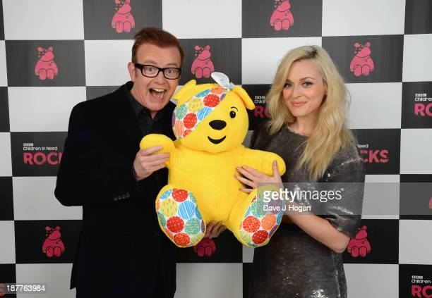 Hosts Chris Evans and Fearne Cotton pose backstage during the 'BBC Children In Need Rocks' at Eventim on November 12 2013 in London England BBC...