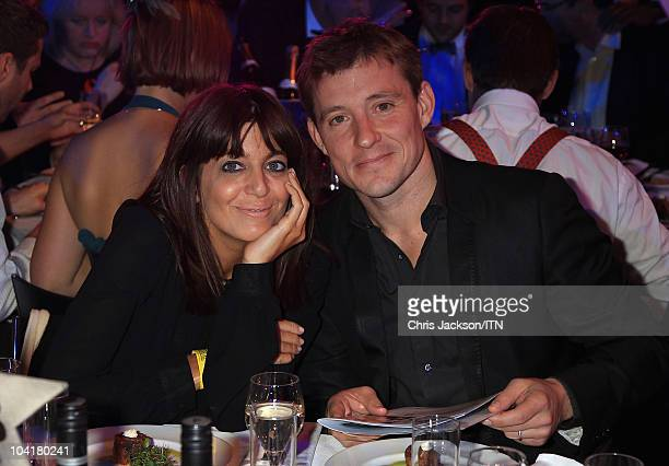Hosts Claudia Winkleman and Ben Shephard attend a champagne reception and dinner ahead of Betfair's 'Newsroom's Got Talent' which raises funds for...