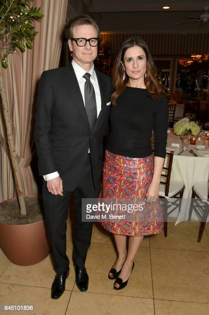 Hosts Colin Firth and Livia Firth attend a dinner to celebrate The GCC and The Journey To Sustainable Luxury on February 24 2017 in Los Angeles...