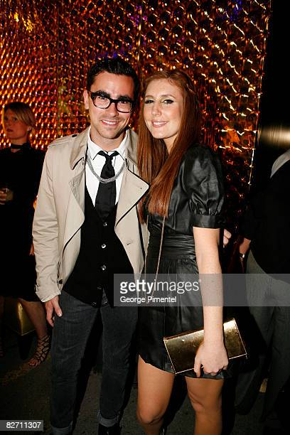 MTV hosts Dan Levy and Jessi Cruickshank attend the MAC GOLD FEVER AFTER PARTY at the Chum/City TV Building on September 7 2008 in Toronto Canada