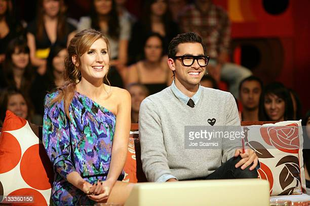Hosts Dan Levy and Jessi Cruickshank attend the The Hills' Kristin Lo and Frankie On The After Show at MTV during the 2009 Toronto International Film...
