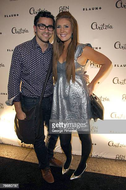 Hosts Dan Levy and Jessi Cruickshank attend the Toronto International Film Festival celebration at Aritzia on September 10 2007 in Toronto Ontario...