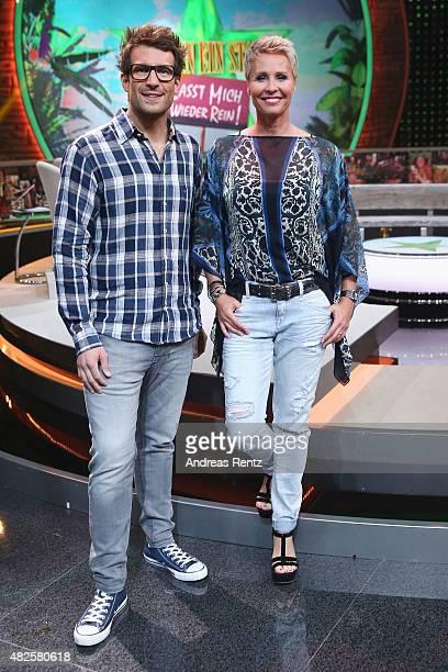 Hosts Daniel Hartwich and Sonja Zietlow attend the 1st live show of the television show 'Ich bin ein Star lasst mich wieder rein' on July 31 2015 in...