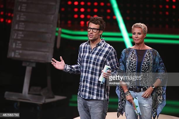 TV hosts Daniel Hartwich and Sonja Zietlow attend the 1st live show of the television show 'Ich bin ein Star lasst mich wieder rein' on July 31 2015...