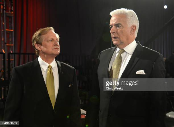 Hosts David Frei and John O'Hurley attend the Annual Kennel Club of Beverly Hills Dog Show at Pomona Fairplex on March 4 2017 in Pomona California