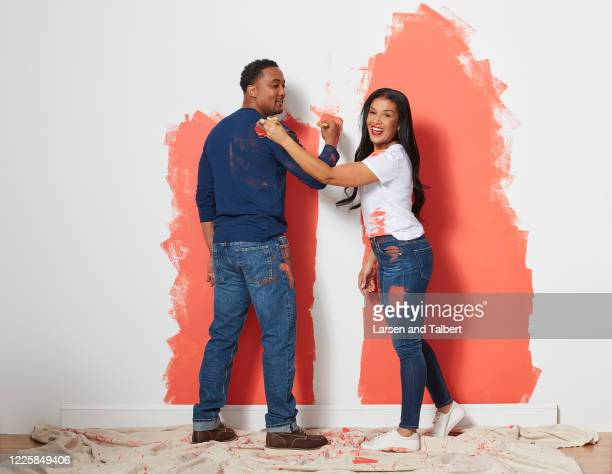 Hosts DeRon Jenkins and Page Turner are photographed for HGTV Magazine on February 5, 2019 in New York City.