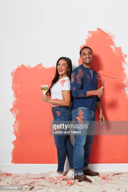Hosts DeRon Jenkins and Page Turner are photographed for HGTV Magazine on February 5, 2019 in New York City. COVER IMAGE.