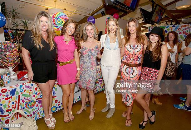 Hosts Dylan Lauren Jane Buckingham and Elizabeth Berkeley Lauren Cindy Crawford and guests attend Dylan's Candy Bar Candy Girl Collection LA Launch...