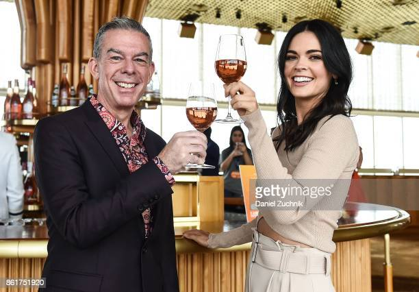 Hosts Elvis Duran and Katie Lee attend the Food Network Cooking Channel New York City Wine Food Festival Presented By CocaCola Rooftop Rose at The...