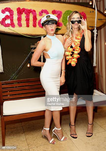 Hosts Erin Foster and Sara Foster attend Amazon Prime Summer Soiree at the Sunset Towers on July 16 2015 in West Hollywood California
