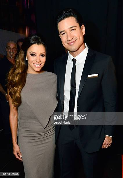 Hosts Eva Longoria and Mario Lopez attend the 2014 NCLR ALMA Awards at the Pasadena Civic Auditorium on October 10 2014 in Pasadena California