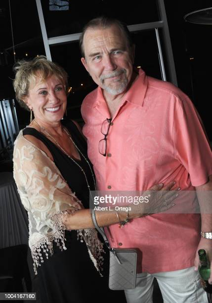 Mark Wheatly Barbara Kesel Glen Hauman and Gina Chapman attend the 31st 'Kinda'Annual' DeadDog Party held at The Barriohaus on July 22 2018 in San...